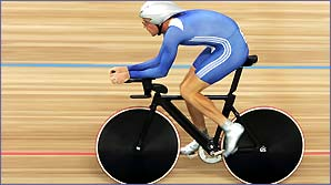 Great Britain's Bradley Wiggins won Olympic gold in Athens in the individual pursuit