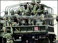 Pakistani troops in Wana