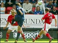 Patrik Berger lashes home Portsmouth's equaliser