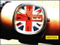 Mintel graphic showing watch with Union Jack