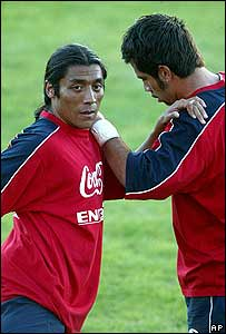 Jugadores chilenos.