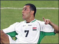 Emad Mohammed was on target for Iraq