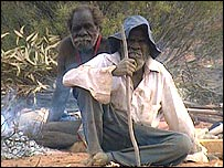 Aborigines in the bush
