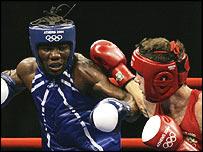 Cameroon's Hassan Ndam Njikam and Irish boxer Andy Lee