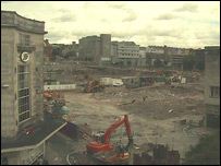 Demolition work at Drake's Circus