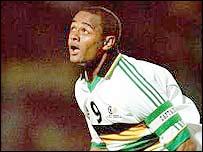 South Africa striker Shaun Bartlett