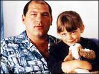 Jack Whomes with his daughter