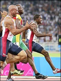 Финиш забега на 100 метров