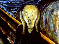 The Scream - one of the four versions painted