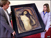 The Madonna at a 1999 exhibition in Munich