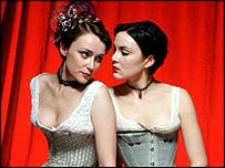 Keeley Hawes and Rachael Stirling in Tipping the Velvet