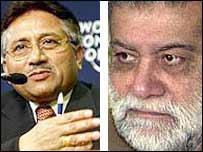 President Pervez Musharraf (L) and Prime Minister Zafarullah Jamali