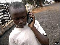 Young radio listener in Rwanda