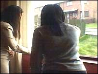 The women are nurses at the nearby Craigavon Hospital