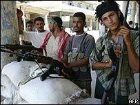 Iraqi Shia Muslim militiamen