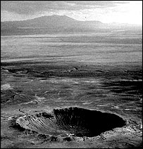 Meteor crater, USGS