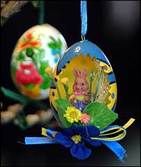 Easter Egg Tree, picture courtesy of FreeFoto.com
