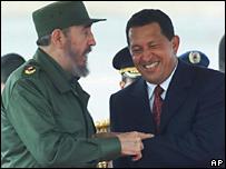 Уго Чавес и Фидель Кастро