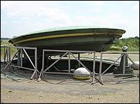 Empty rocket silo