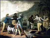 Slave gang