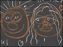 Drawing by Sir Paul McCartney and Heather Mills