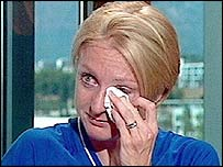 Paula Radcliffe in tears