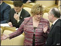 Russian lawmakers during a Duma's session on 31 March 2004