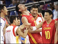 China's Yao Ming shows what victory means to him