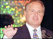 Conservative radio host Rush Limbaugh