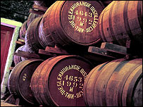 Glenmorangie barrels