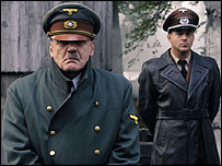 Swiss actor Bruno Ganz (l) as Hitler - copyright Constantin Films