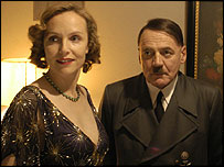Bruno Ganz (r) with Juliane Koehler, who plays Hitler's wife Eva Braun - copyright Constantin Films