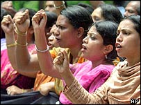 Women protestors in Dhaka