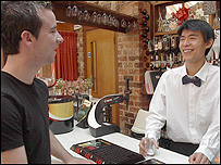 Luo Weiqi at his part-time job