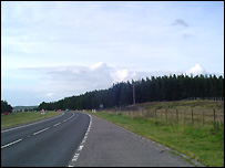 The A9 at Dalmagarry