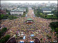 Opposition rally in Taipei 27 March