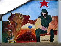 Mural of Che Guevara, Vallegrande hospital