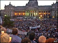 Anti-crime protest in front of the Congress building in Buenos Aires (archive picture)