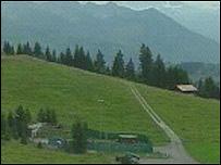 view of bunker in Alps