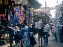 A street market in Cairo