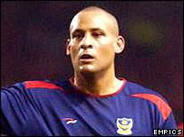 Portsmouth midfielder Nigel Quashie
