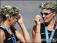 Georgina Evers-Swindell (left) and Caroline Evers-Swindell