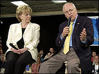 Vice-President Dick Cheney with his wife
