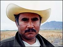 Farmer turned vegetable picker Pedro Flores
