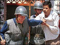 Police make an arrest in Kathmandu