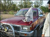A car of the Haji Namdar faction