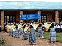 Pupils practising dancing