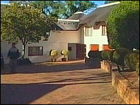 Sir Mark was arrested at his home in an exclusive suburb of Cape Town