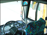 Bus driver's cab