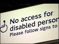Disability sign on the London Underground